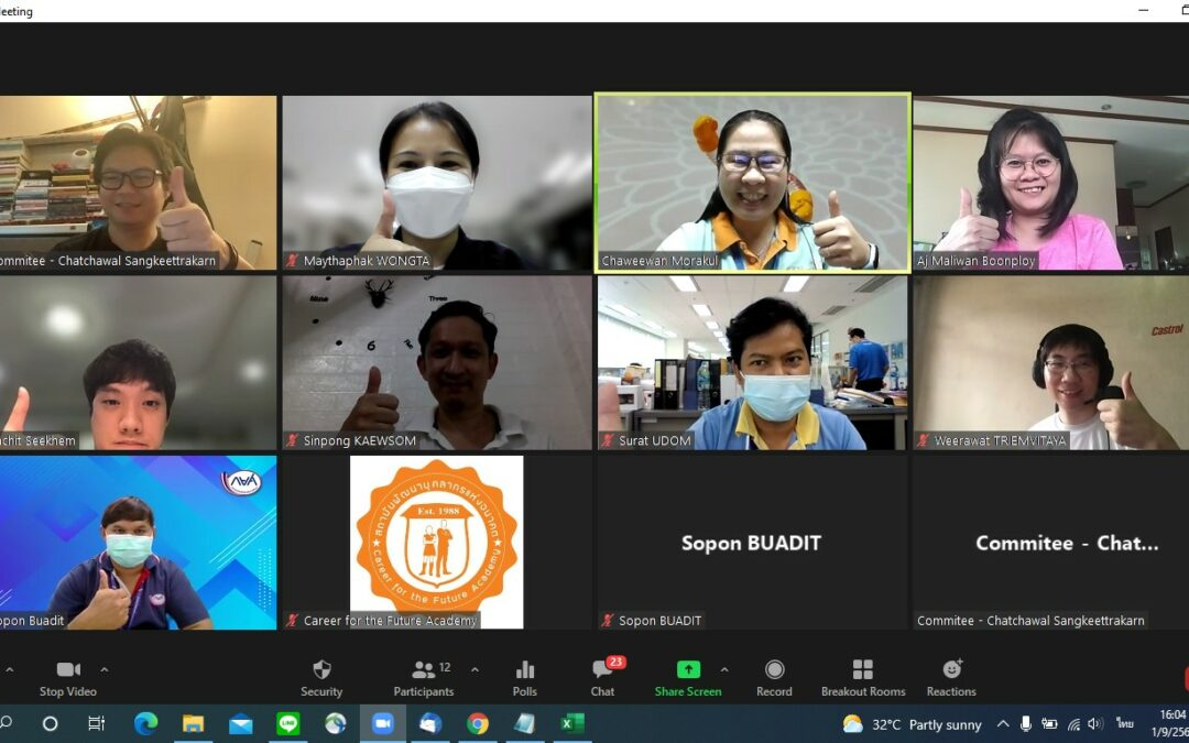 Career for the Future Academy จัดอบรม หลักสูตร Chatbot Design for Business ถ่ายทอดสด ในระบบ Online ผ่านโปรแกรม Zoom